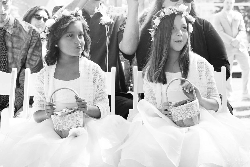 flower girls candid