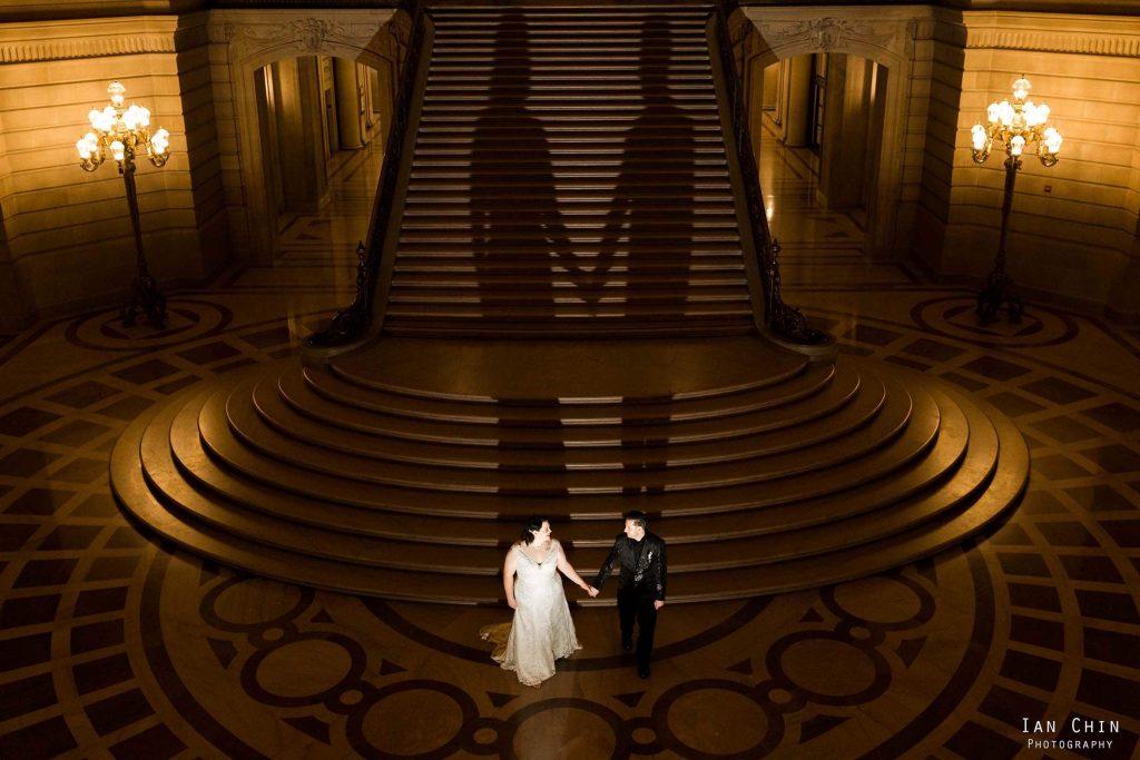 San Francisco City Hall NYE Wedding Photographer