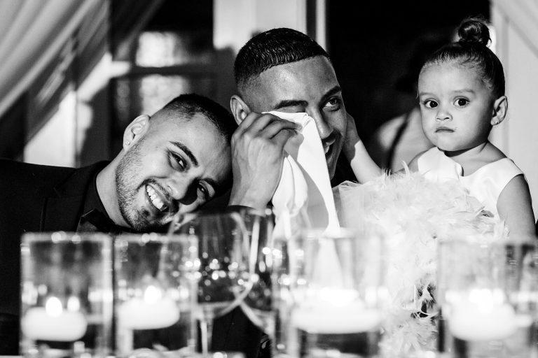 gay wedding photographer crying groom