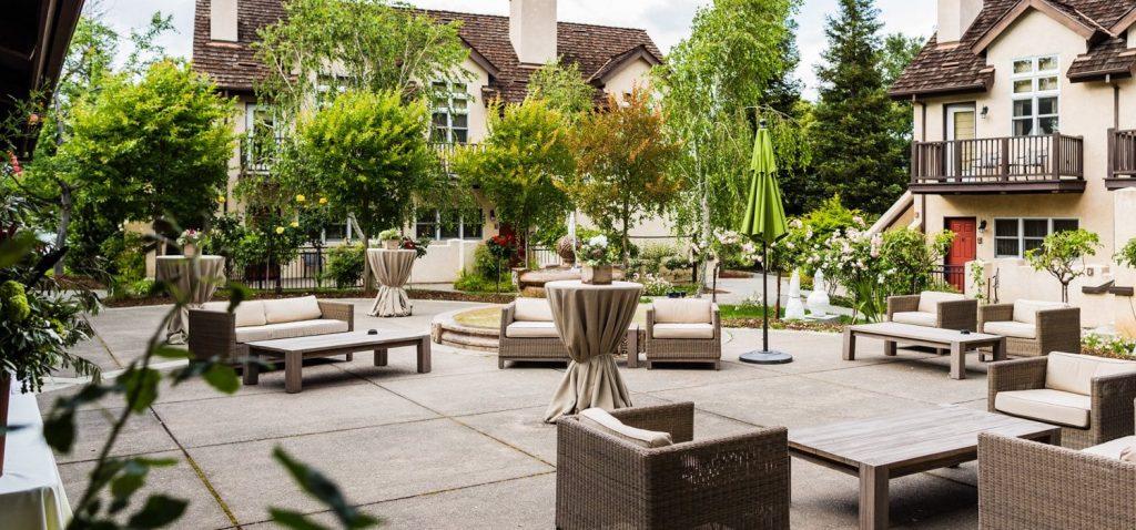 harvest inn wedding fountain view terrace