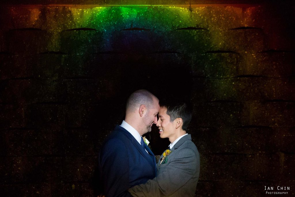 rainbow gay wedding